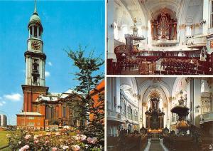 Hamburg St Michaeliskirche Orgel Altar Church Interior view