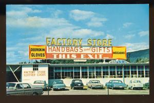 Brattleboro, Vermont/VT Postcard, Factory Store Gift Shop, Route 5, Corvair