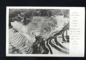 RPPC BINGHAM CANYON UTAH COPPER MINE BIRDSEYE VIEW REAL PHOTO POSTCARD