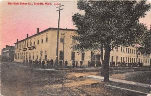 D76/ Sturgis Michigan Mi Postcard 1911 Berridge Shear Company Factory
