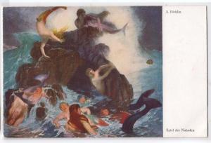 Mermaids, A. Bocklin, Spiel der Najaden