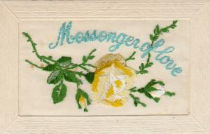 Hand Sewn, 1900-10s; Messenger of love, Yellow Rose