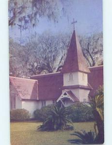 Unused Pre-1980 CHURCH SCENE St. Simons Island - Brunswick Georgia GA G3551