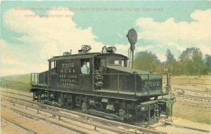 Detroit Michigan Electric Motor Train Twin Tubes #7502 C-1910 Postcard 21-7532