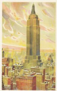 Empire State Building,NYC, 1930s; WINTER SUNSHINE, Marcus A. Van Der Hope
