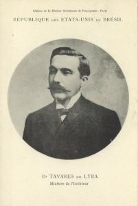 brazil, Minister of Home Affairs Dr. Tavares de Lyra (1906) Mission