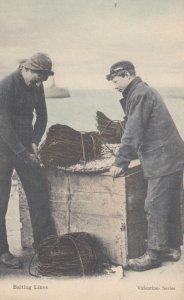 Fishermen baiting Lines , 00-10s