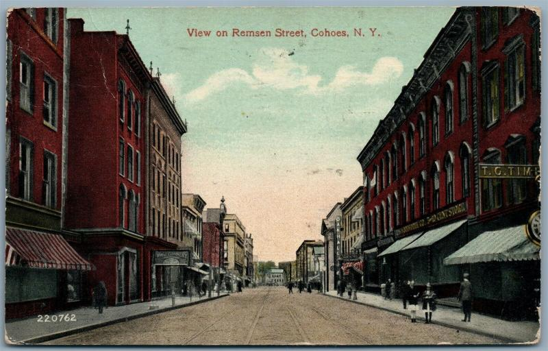 GOHOES NY REMSEN STREET 1917 ANTIQUE POSTCARD
