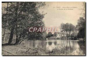 Postcard Old water mill Anet Piece d & # 39eau Castle and Mill Barillette