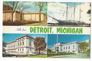 MI Detroit Greetings Hello From Multiview 4 Sites Postcard