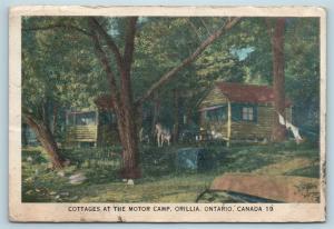 Postcard Canada Ontario Orillia Cottages at The Motor Camp Vintage Q12