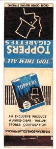 Topper cigarette matchbook cover