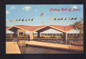 OKLAHOMA CITY OKLAHOMA ROUTE 66 COWBOY HALL OF FAME VINTAGE POSTCARD