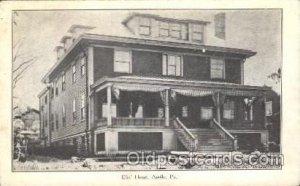 Apollo, Pa, USA Fraternal Elks Club (B.P.O.E.) Unused light indentation top e...