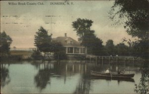 Dunkirk NY Willow Brook Country Club c1910 Postcard