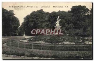 Postcard Old Saint Germain En Laye The Rosarium