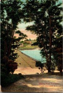 Stanley Park Entrance, Vancouver British Columbia Vintage Postcard B02