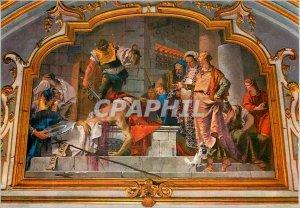 Postcard Modern Bergamo Colleoni Chapel Fresco G B Tiepolo (1732 1733) Decapi...
