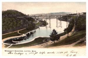 Massachusetts  Clinton  Wachusett Reservoir with Bridge