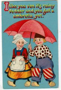 Dutch Children, I Like Uou Ven It's Rainy - Umbrella