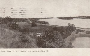 STERLING, Illinois, 1909; Rock River, Looking East