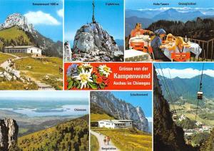 Kampenwald Aschau im Chiemgau, Kampenwand Gipfelkreuz Bergstation Scheibenwand