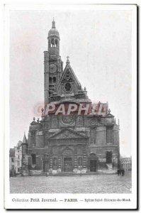 Old Postcard Paris Eglise Saint Etienne du Mont