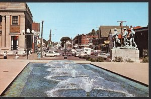 PEI Street View War Memorial CHARLOTTETOWN with older cars Chrome 1950s-1970s