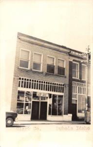 Dubois Idaho Clark Court House Real Photo Antique Postcard K29389