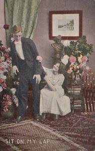 Romantic Couple Sit On My Lap 1910