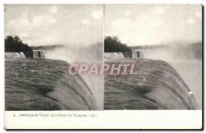 Stereoscopic map - USA - North America - Niagara Falls - Old Postcard