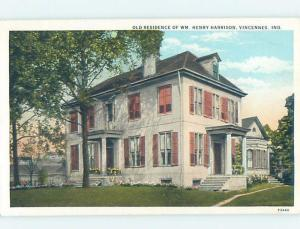 Unused W-Border HISTORIC HOME Vincennes Indiana IN d0919@