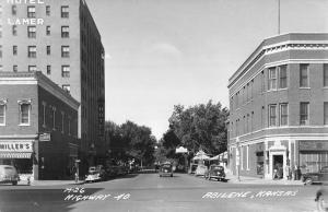 Abilene Kansas Highway 40 Real Photo Antique Postcard K47043