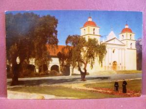 Postcard CA Santa Barbara Mission Union Oil Company Card
