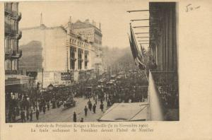 CPA MARSEILLE - Arrivee du President Kruger a MARSEILLE (le 22 (2037)