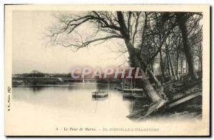 Old Postcard Tour De Marne De Joinville Champigny
