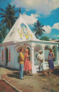 Hindu Temples Port Of Spain Trinidad 1960s Pan American Plane Airlines Postcard