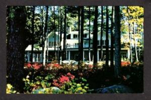 NH Pick Point Lodge MIRROR LAKE NEW HAMPSHIRE Postcard