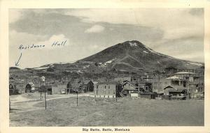 1915-30 Unposted Printed Postcard Big Butte, Butte, Montana MT & Town View