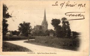 CPA CARENTAN - Église N.-D. nord-est (149655)