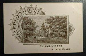 Mint Vintage Waterloo Hotel Bettws Y Coed North Wales Illustrated Postcard
