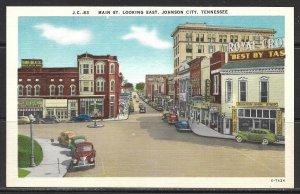 Tennessee, Johnson City - Main St Looking East - [TN-046]