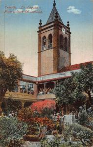 Spain Tenerife La Laguna Patio y Torre del Instituto Tower Clock Postcard