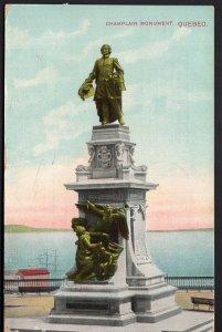 Quebec Champlain Monument QUEBEC - pm1914 - Divided Back