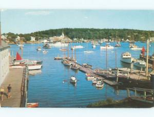 Pre-1980 HARBOR SCENE Boothbay Harbor Maine ME W5978