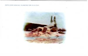 Haynes VIGNETTE 1907, Grotto Geyser Formation, Yellowstone National Park