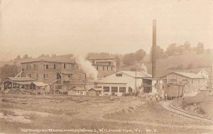 Wilmington Vermont Luddington Woodenware Works Real Photo Postcard AA28953