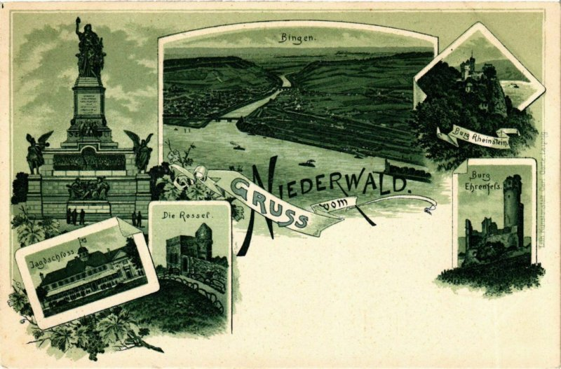 CPA AK Niederwald - Towns - Castles - Monuments - Litho GERMANY (910366)