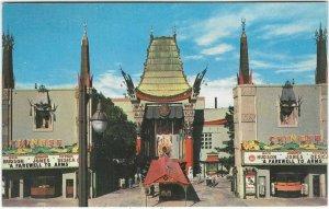 1960 postcard, Grauman's Chinese Theatre, Hollywood, California