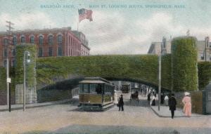 SPRINGFIELD , Massachusetts, PU-1908 ; Main Street, Railroad Arch bridge